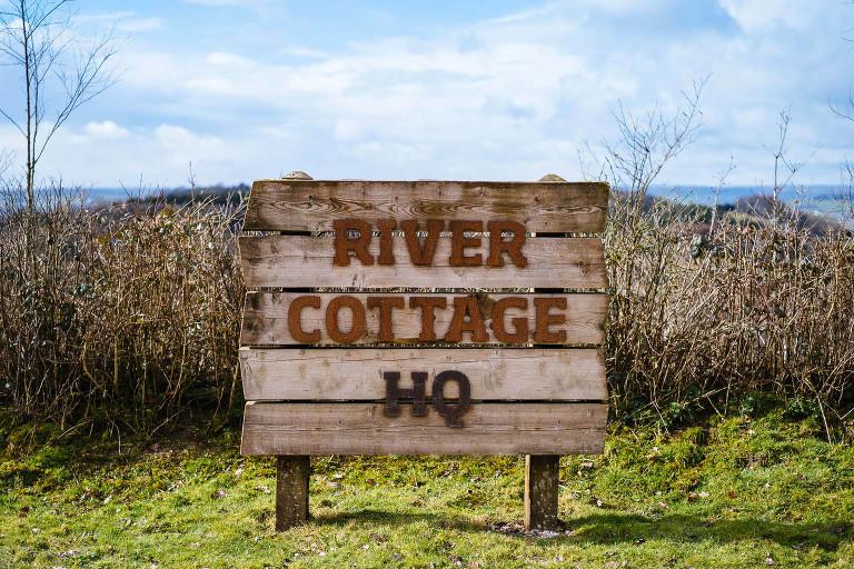 River cottage wedding sign
