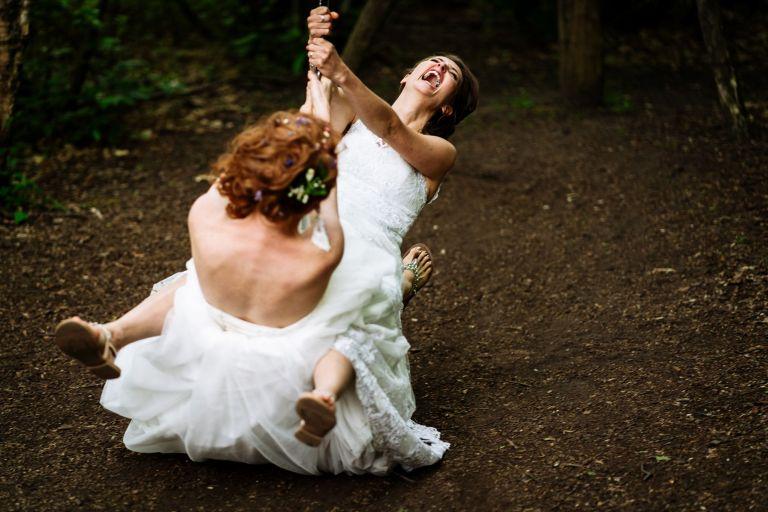 same sex wedding couple