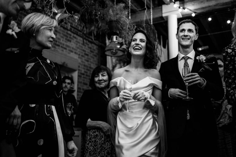 100 Barrington, winter wedding, London wedding